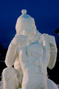 Snow Sculpture Carving In Breckenridge, CO.