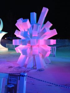 Twilight Viewing at the International Snow Sculptures