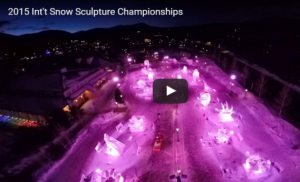 Video of the 2015 International Snow Sculpting Championships