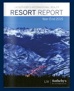 Resort Report Year-End 2015